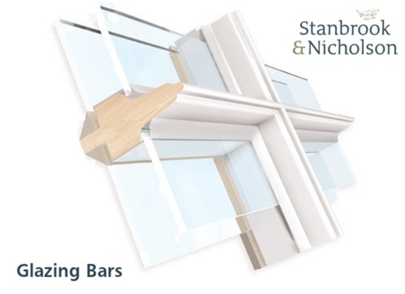 Stuck on glazing bar or applied but why