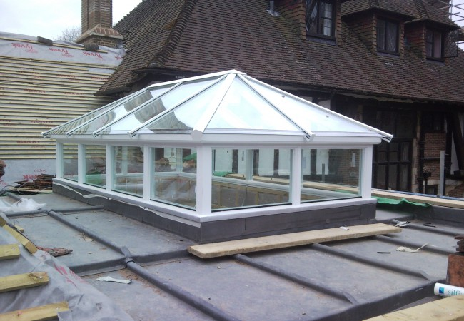 Traditional timber roof lantern