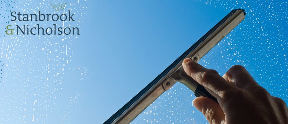 Stanbrook & Nicholson guide to cleaning aluminium windows