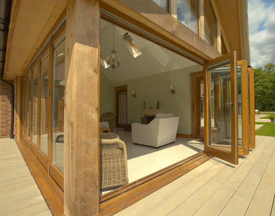 Scintillating Oak Bi Folding Doors Pictures - Exterior ideas 3D ...