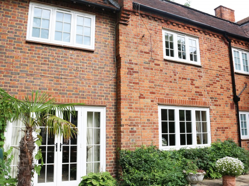 Flush Casements at West Bylands Cottage